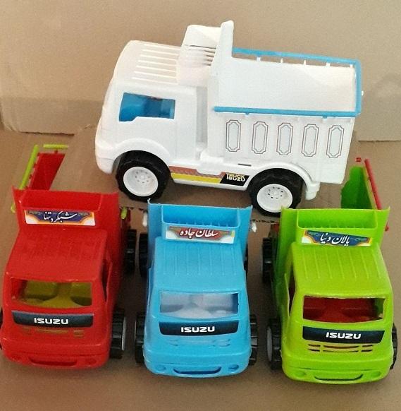 کامیون ایسوزو باری پخش اسباب بازی پسرانه حراجی ماشین پلاستیکی